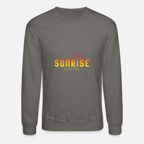 Digital Hoodies & Sweatshirts - Sunrise Digital Logo - Unisex Crewneck Sweatshirt asphalt gray