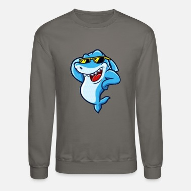Stylish Stylish shark - Unisex Crewneck Sweatshirt