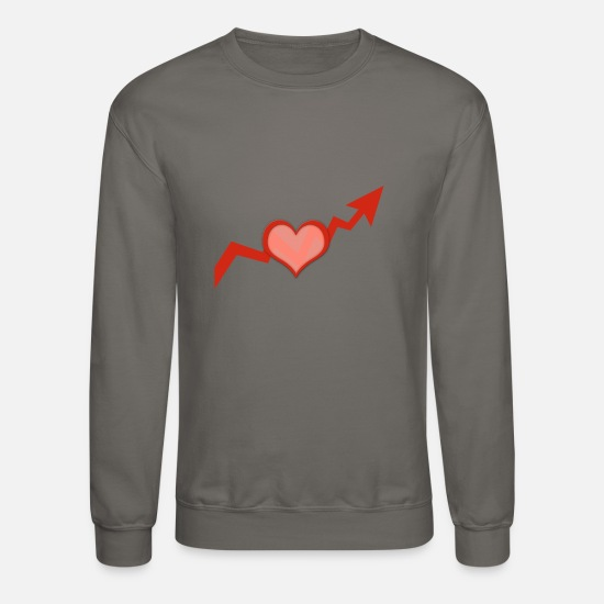 Love Hoodies & Sweatshirts - heart 3552368 - Unisex Crewneck Sweatshirt asphalt gray