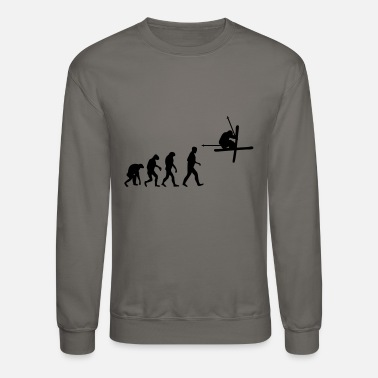 Skiing ski evolution - Unisex Crewneck Sweatshirt