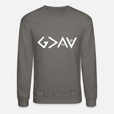 God God is Greater Than the Highs and lows Symbols - Unisex Crewneck Sweatshirt