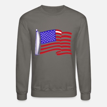 Stars And Stripes Pyramids and strypes Illuminati Flag - Crewneck Sweatshirt