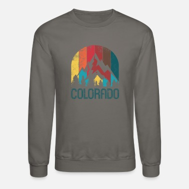 Colorado Retro Colorado Design for Men Women and Kids - Crewneck Sweatshirt