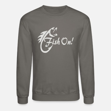 Fishing Fish On - Unisex Crewneck Sweatshirt