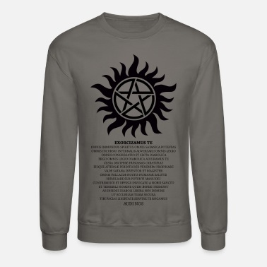 Supernatural Anti-Possesion Petagram with Exorcism - Unisex Crewneck Sweatshirt