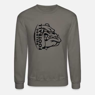 Purple Bulldog Football - Unisex Crewneck Sweatshirt