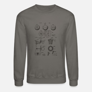 Basketball Fan Basketball Equipment Patents - Crewneck Sweatshirt