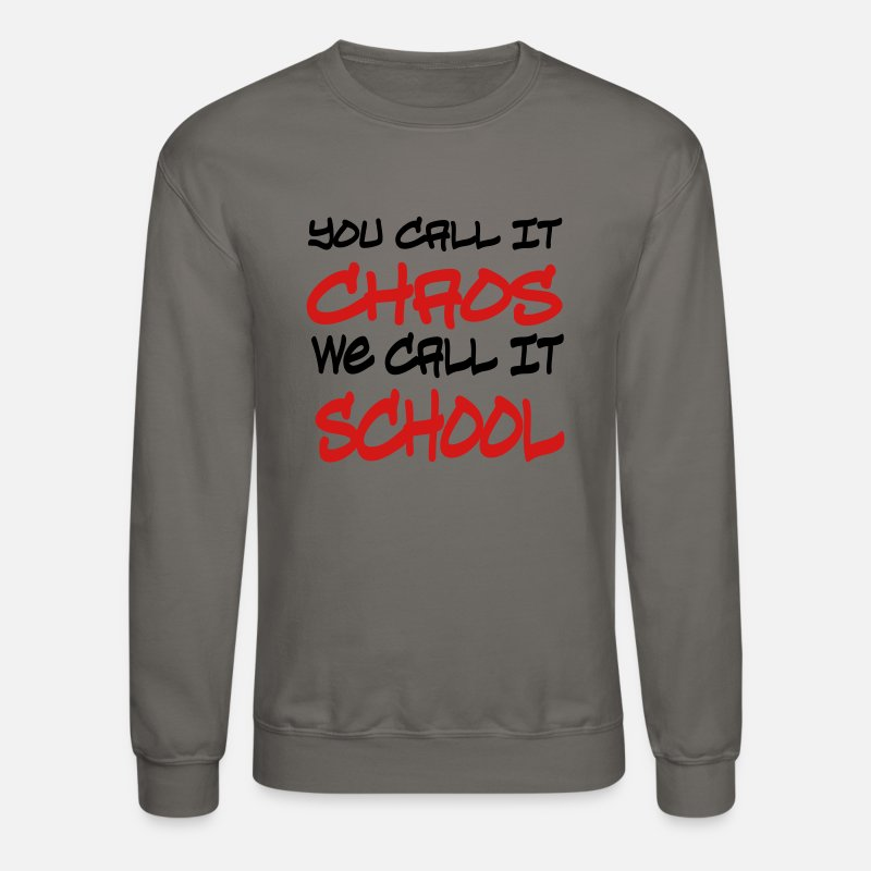 Back To School Hoodies & Sweatshirts - school - Unisex Crewneck Sweatshirt asphalt
