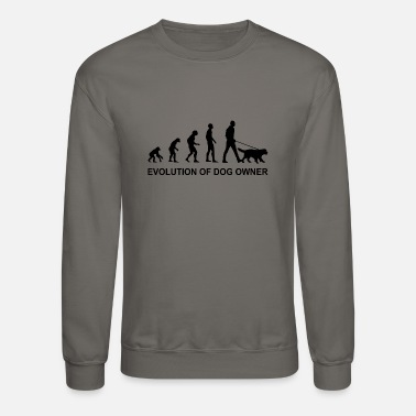 Dog Owner Evolution of Dog owner - Unisex Crewneck Sweatshirt