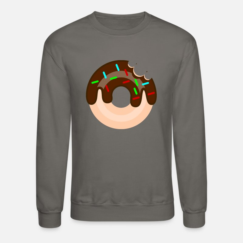 57984ba76868 Donut Hoodies   Sweatshirts - Donut Graphic Design - Unisex Crewneck  Sweatshirt asphalt
