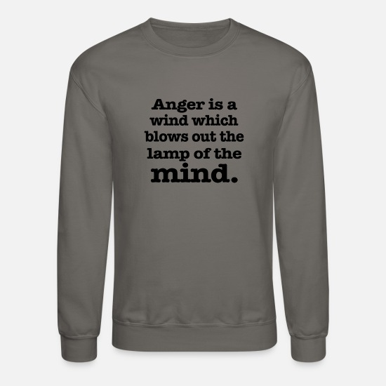 Funny Hoodies & Sweatshirts - Anger is a wind - Unisex Crewneck Sweatshirt asphalt gray