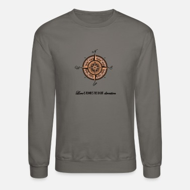 S Love Your Planet Right Direction Compass Gift Shirt - Unisex Crewneck Sweatshirt