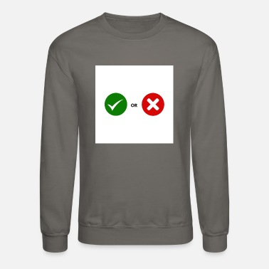 Mark Something Mark and cross mark - Unisex Crewneck Sweatshirt