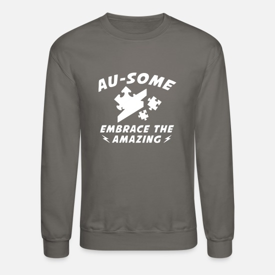 Some Hoodies & Sweatshirts - AU SOME - Unisex Crewneck Sweatshirt asphalt gray