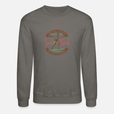 Long Beach Vintage Surf California long beach - Crewneck Sweatshirt