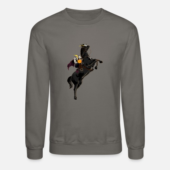 Headless Hoodies & Sweatshirts - Headless Horseman Halloween Sleepy Hollow - Unisex Crewneck Sweatshirt asphalt gray