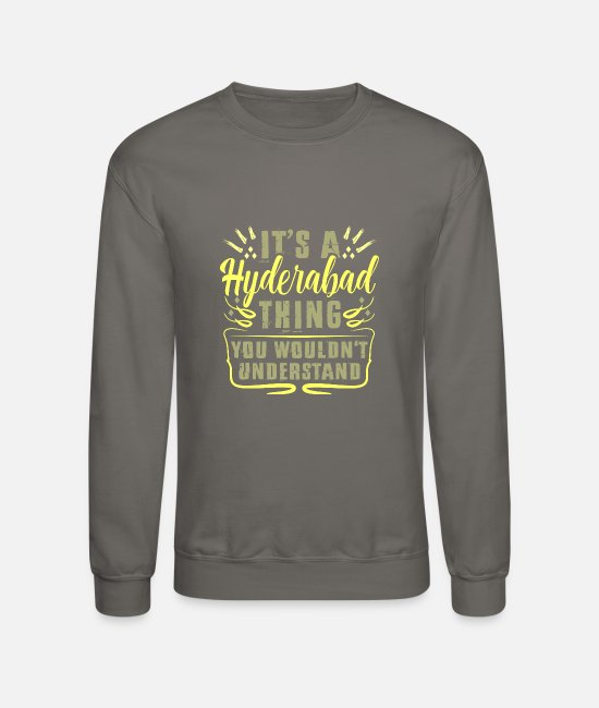 Ahmedabad Hoodies & Sweatshirts - Ahmedabad Hyderabad India - Unisex Crewneck Sweatshirt asphalt gray