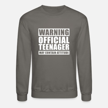 Official Teenager Warning Official Teenager T Shirt 13th Birthday - Unisex Crewneck Sweatshirt