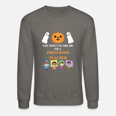 Preschool Funny Halloween Preschool Teacher Shirt - Unisex Crewneck Sweatshirt