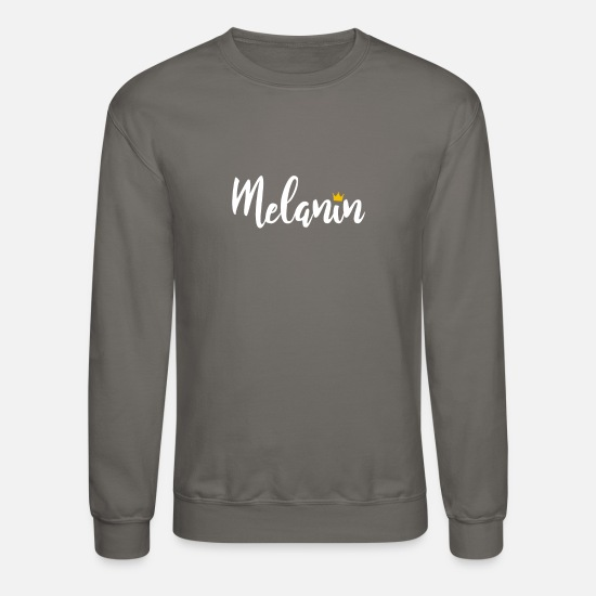 Queen Hoodies & Sweatshirts - Melanin Queen - Unisex Crewneck Sweatshirt asphalt gray