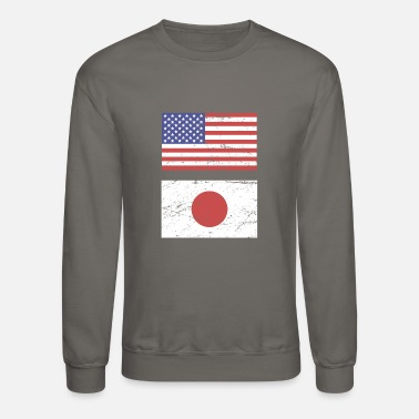 State Flag United States Flag & Japan Flag - Crewneck Sweatshirt