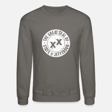 Jefferson State Of Jefferson | Distressed Seal - Unisex Crewneck Sweatshirt
