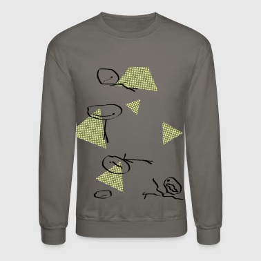 Hobos and Triangles Pattern - Crewneck Sweatshirt