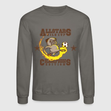Football Pug - Crewneck Sweatshirt