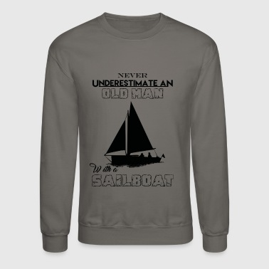 With A Sailboat - Crewneck Sweatshirt