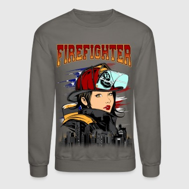 Female Firefighter - Crewneck Sweatshirt