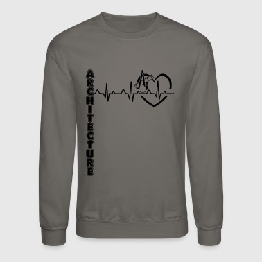 Architecture Heartbeat Shirt - Crewneck Sweatshirt