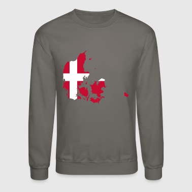 Denmark Danish Flag Shape Scandinavia Holiday Gift - Crewneck Sweatshirt