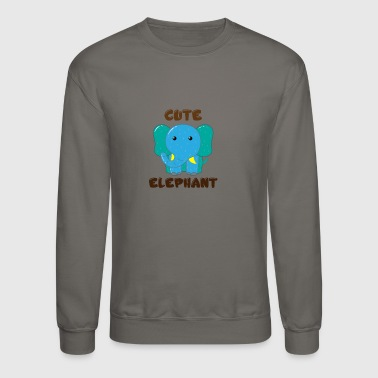 funny cute desing elephant t-shirts for men and wo - Crewneck Sweatshirt