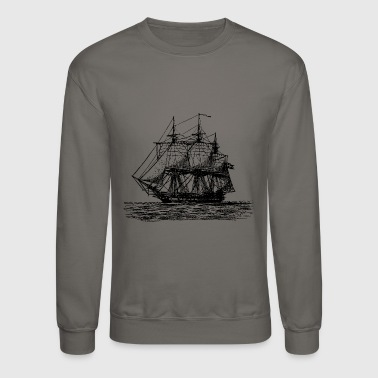 Sailboat ship boat canoe sailboat submarine yacht anchor444 - Crewneck Sweatshirt