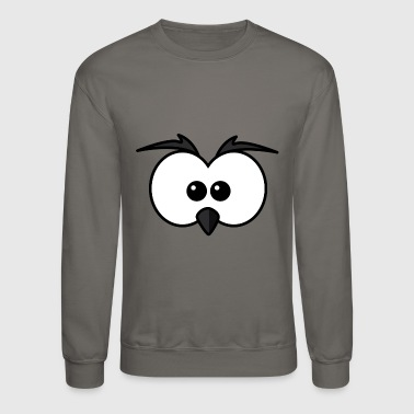 Eyes with beak and eyebrows black - Crewneck Sweatshirt