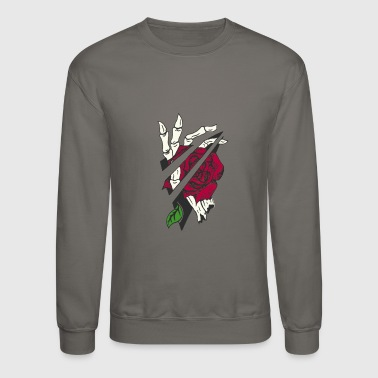 Skeleton rose hand - Crewneck Sweatshirt