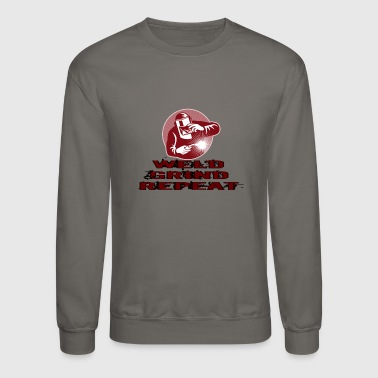 WELD GRIND REPEAT-BURGUNDY - Crewneck Sweatshirt