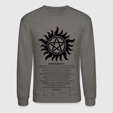 Anti-Possesion Petagram with Exorcism - Crewneck Sweatshirt