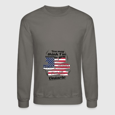 THERAPIE URLAUB AMERICA USA TRAVEL Ontario - Crewneck Sweatshirt