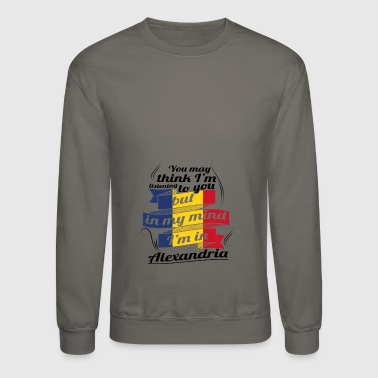 Romania URLAUB Rumaenien ROOTS TRAVEL I M IN Romania Alexa - Crewneck Sweatshirt