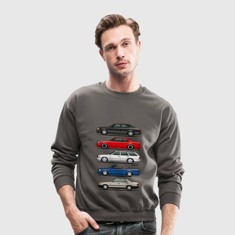 Stack of Mercedes W124 E-Class - Crewneck Sweatshirt