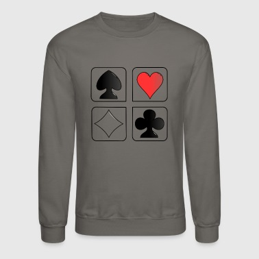 playing cards - Crewneck Sweatshirt