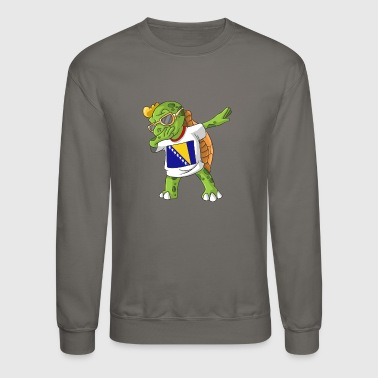 Bosnia and Herzegovina Dabbing Turtle - Crewneck Sweatshirt