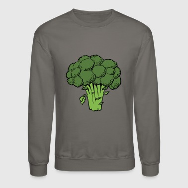 Broccoli Brocoli Veg Veggie Vegetable Gift Present - Crewneck Sweatshirt