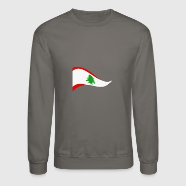 Arabs Lebanon Beirut Arabic Flag Banner Flags Ensigns - Crewneck Sweatshirt