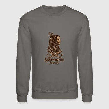 american indian - Crewneck Sweatshirt