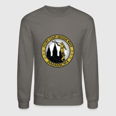 Ivory Coast Abidjan West Mission - LDS Mission - Crewneck Sweatshirt