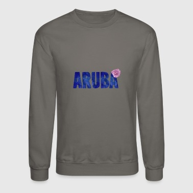 Aruba Aruba Flower Watercolor - Crewneck Sweatshirt
