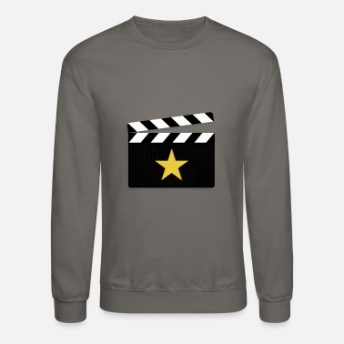Actress Movie Star Clapperboard Design for Film Lovers - Crewneck Sweatshirt
