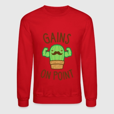 Gains On Point (Cactus Pun) - Crewneck Sweatshirt